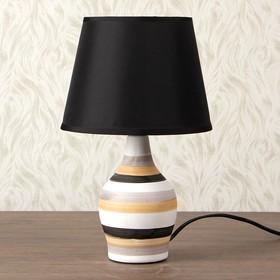 "Лампа настольная керамика Е14 40Вт 220В ""Стилистика"" 31,5х18,5х18,5 см"