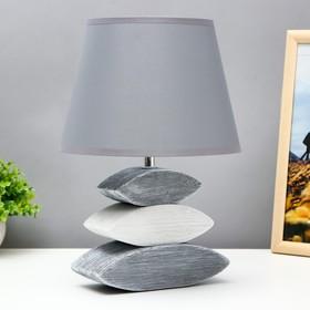 """Лампа настольная керамика Е14 40Вт 220В """"Сад камней: серый асфальт"""" 33,5х22,5х22,5 см"""