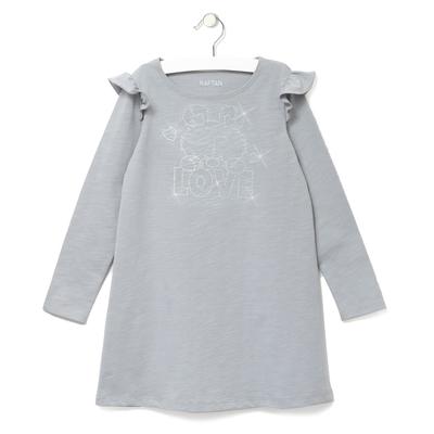 """Платье детское KAFTAN """"LOVE"""", рост 104-110 (30), 3-4 года, цвет серый"""