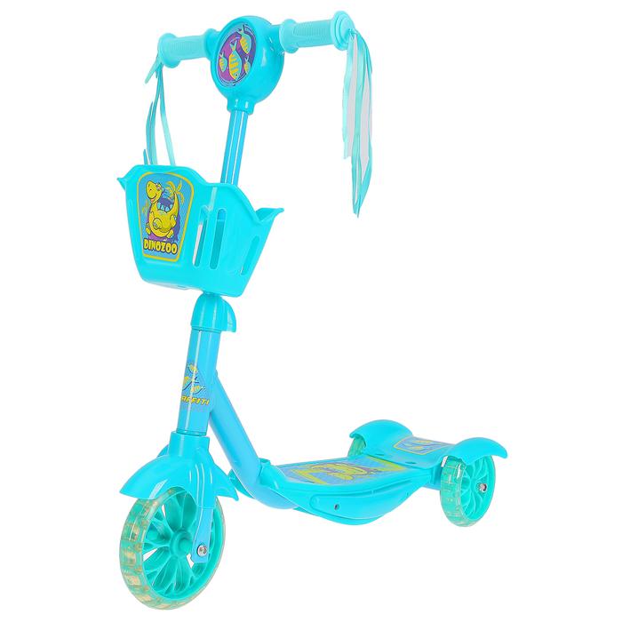 Самокат детский GRAFFITI DinoZoo, голубой
