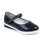 Туфли для девочек арт. С7393 (темно-синий) (р. 28)