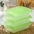 """Набор контейнеров 700 мл """"Трио"""", 3 шт, цвет МИКС"""
