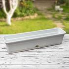 Ящик балконный (длина 80 см), цвет мрамор