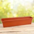 Ящик балконный (длина 80 см), цвет терракот