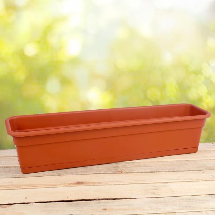 Ящик балконный 80 см, цвет терракот