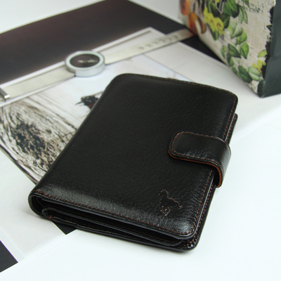 Портмоне 3 в 1, 2 отдела, для карт, для монет, отдел для автодокументов и паспорта, цвет коричневый