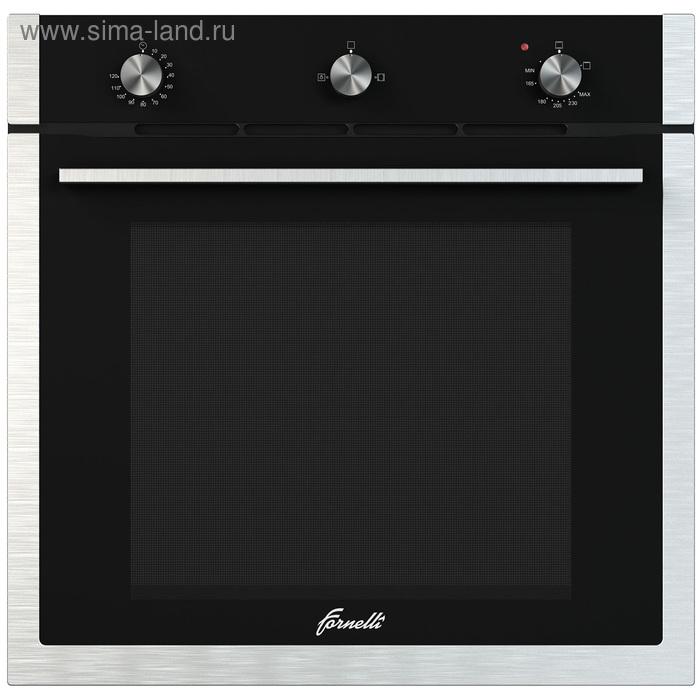 Духовой шкаф Fornelli FGA 60 Falcone BL, газовый, 3 функции, черный/серебристый