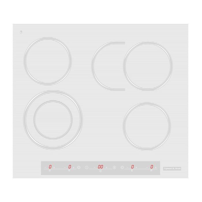 Варочная поверхность Zigmund & Shtain CNS 259.60 WX, стеклокерамическая, 4 конфорки, белая