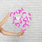 """Шар воздушный 18"""" прозрачный, перья цвета фуксии - фото 308466357"""