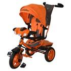 """Велосипед трёхколёсный Lamborghini Egoist L3O, надувные колёса 12""""/10"""", цвет оранжевый"""