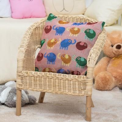 "Pillow case decorative ""Ethel"" Heavenly elephants 40x40 ± 2 cm"