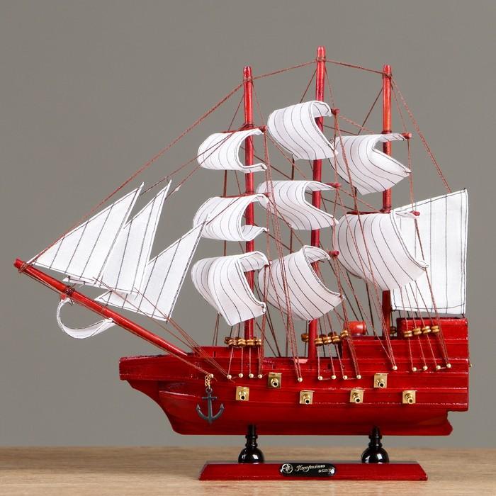 Корабль  «Навстречу ветру», 30х32см