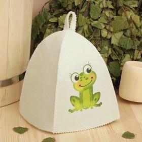Банная шапка с детской термопечатью 'Лягушка' Ош