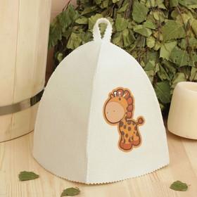 Банная шапка с детской термопечатью 'Жираф' Ош