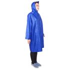 Дождевик-плащ женский, размер 46-48, цвет синий