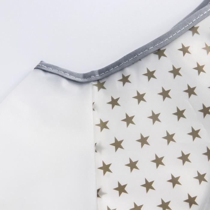 Нагрудник с карманом непромокаемый «Звёзды», с рукавами, цвет бордовый