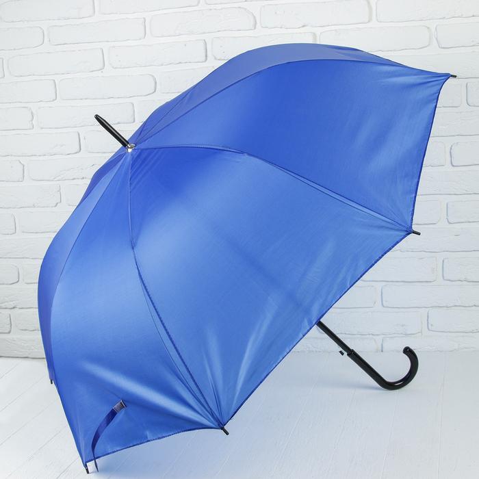 Зонт полуавтоматический «Классика», 8 спиц, R = 58 см, цвет синий