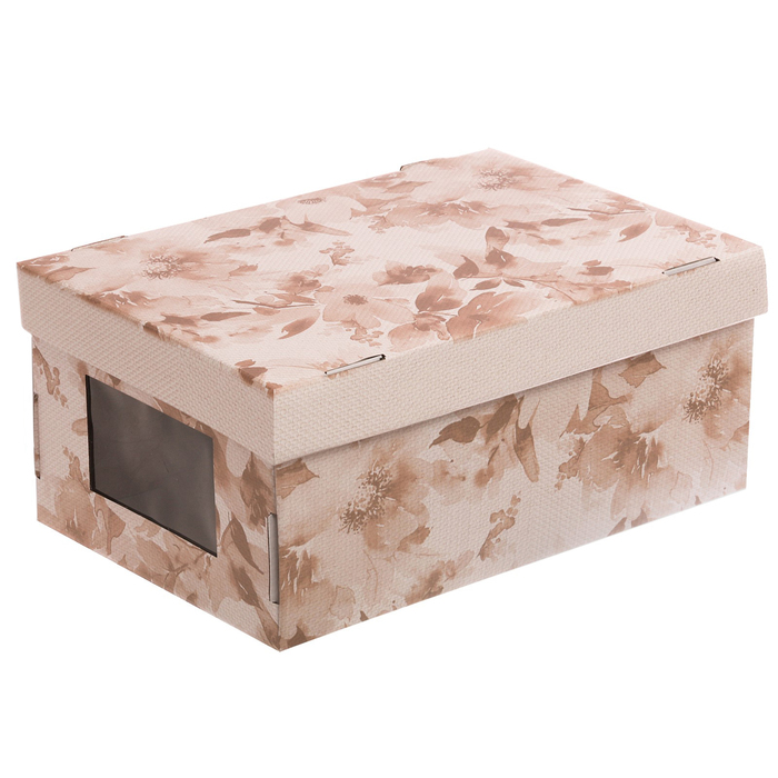 Складная коробка с PVC окошком «Нежные краски», 34 × 23 × 15 см - фото 308272820