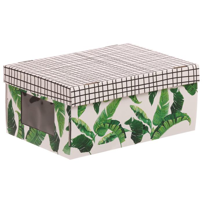 Складная коробка с PVC окошком «Тропики», 34 × 23 × 15 см - фото 308272827