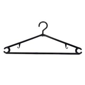 Вешалка-плечики для одежды малая, размер 44-48, цвет чёрный