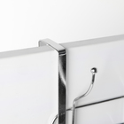 Вешалка надверная на 4 двойных крючка «Блеск», 30×10×16 см, цвет хром - фото 4641471