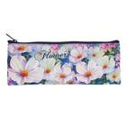 Пенал мягкий «Акварельные цветы», для девочки, 1 отделение плоский 75 х 195 мм, ПМП7-20