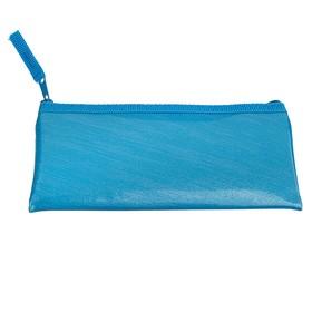 Пенал мягкий, 1 отделение, плоский, 75 х 195 мм, «Оникс», ПМП 07-52, экокожа, цвет ярко-голубой