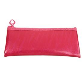 Пенал мягкий, 1 отделение, плоский, 75 х 195 мм, «Оникс», ПМП 07-52, экокожа, цвет ярко-розовый