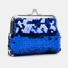 Purse baby the Shining, sequins, Department on the clasp, color blue/silver