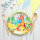 Paper plate Giraffe, 18 cm