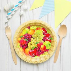 "Plate paper ""Fruits"", 18 cm"