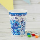 """Glass paper """"blue and White patterns"""", 220 ml"""