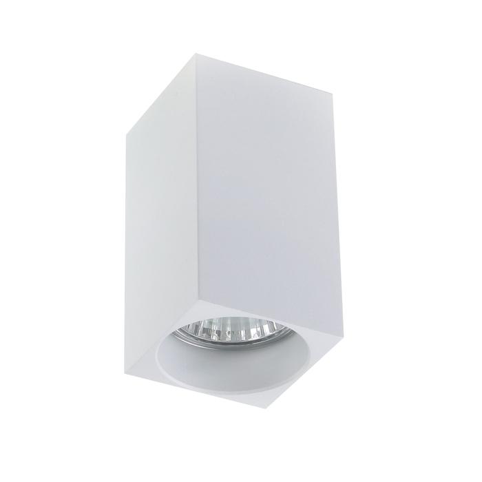 Светильник потолочный Luazon под лампу GU10, 100 х 55 х 55 мм, БЕЛЫЙ