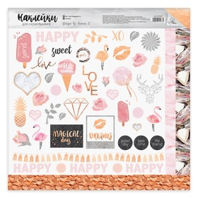 Stickers for scrapbooking Magical day, 30.5 x 30.5 cm
