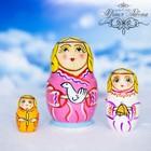 "Матрешка 3 кукольная ""Ангел""  10 см"