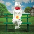 """Садовая фигура """"Кошка на скамейке"""""""