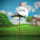 """Садовая фигура """"Аистёнок"""", средний, на металлических ногах, 80 см"""