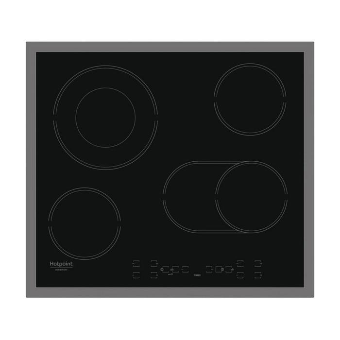Варочная поверхность Hotpoint-Ariston HAR 642 DO X, электрическая, 4 конфорки, черная