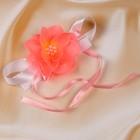 Бутоньерка «Милана», ярко-розовая, набор 2шт