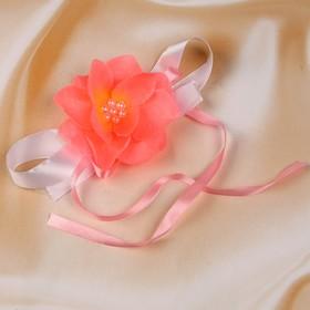 Бутоньерка «Милана», ярко-розовая, набор 2шт Ош