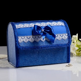 Коробка для денег №1, синяя, разборная