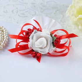 Set of flowers into the hands of the bridesmaids, red, 2 PCs