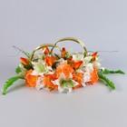 Кольца «Алиса», бело-оранжевые