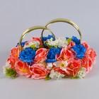 Кольца на а/м №1, чайная роза-синий