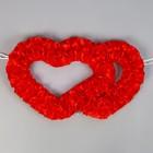 Сердца №10, атлас, красные