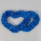 Сердца №10, атлас, синие