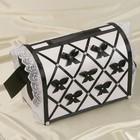 Коробка для денег «Бант», бело-чёрная, неразборная
