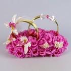 Кольца на а/м малые «Жених и Невеста», сирень, орхидея