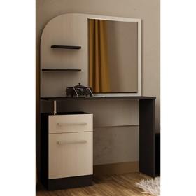 Туалетный столик Венеция, 870х450х1515, Венге/Дуб молочный
