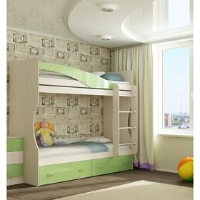 Кровать 2х ярусная Буратино, 1892х966х1855, зеленый